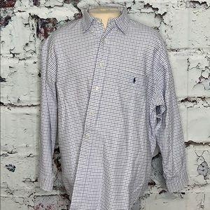 Ralph Lauren the big shirt XL plaid purple